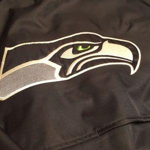 Seattle Seahawk rain jacket dark blue with green